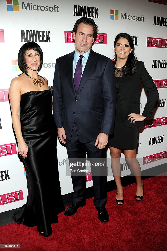 Suzan Gursoy, James Cooper and actress <a gi-track='captionPersonalityLinkClicked' href=/galleries/search?phrase=Cecily+Strong&family=editorial&specificpeople=9951067 ng-click='$event.stopPropagation()'>Cecily Strong</a> attend the 2013 Adweek Hot List gala at Capitale on December 2, 2013 in New York City.