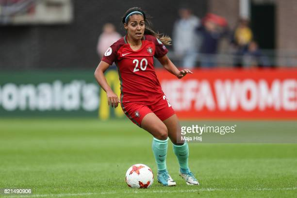 Suzane Pires of Portugal controls the ball during the UEFA Women's Euro 2017 Group D match between Scotland v Portugal at Sparta Stadion on July 23...