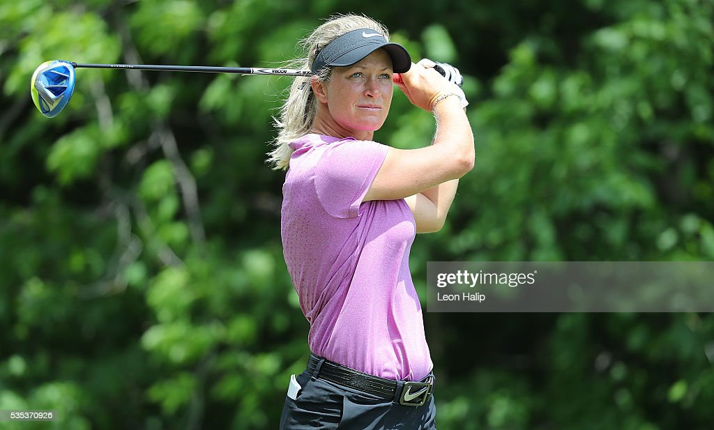 <a gi-track='captionPersonalityLinkClicked' href=/galleries/search?phrase=Suzann+Pettersen&family=editorial&specificpeople=218091 ng-click='$event.stopPropagation()'>Suzann Pettersen</a> from Norway hits her tee shot on the fifth hole during the final round of the LPGA Volvik Championship on May 29, 2016 at Travis Pointe Country Club Ann Arbor, Michigan.