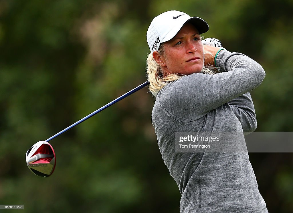 <a gi-track='captionPersonalityLinkClicked' href=/galleries/search?phrase=Suzann+Pettersen&family=editorial&specificpeople=218091 ng-click='$event.stopPropagation()'>Suzann Pettersen</a> of Norway hits a shot during the second round of the 2013 North Texas LGPA Shootout at the Las Colinas Country Club on April 26, 2013 in Irving, Texas.