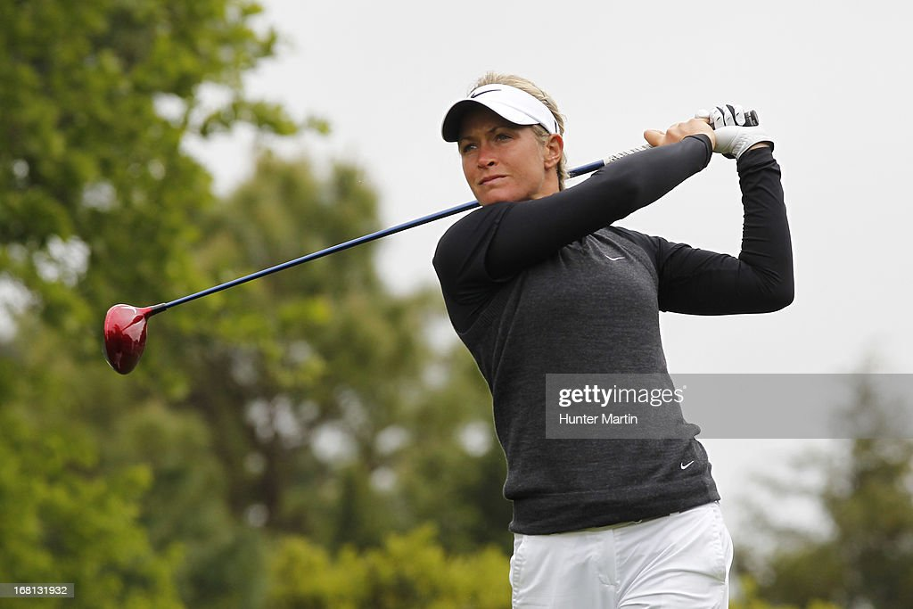 <a gi-track='captionPersonalityLinkClicked' href=/galleries/search?phrase=Suzann+Pettersen&family=editorial&specificpeople=218091 ng-click='$event.stopPropagation()'>Suzann Pettersen</a> of Norway hits her tee shot on the third hole during the final round of the Kingsmill Championship at Kingsmill Resort on May 5, 2013 in Williamsburg, Virginia.