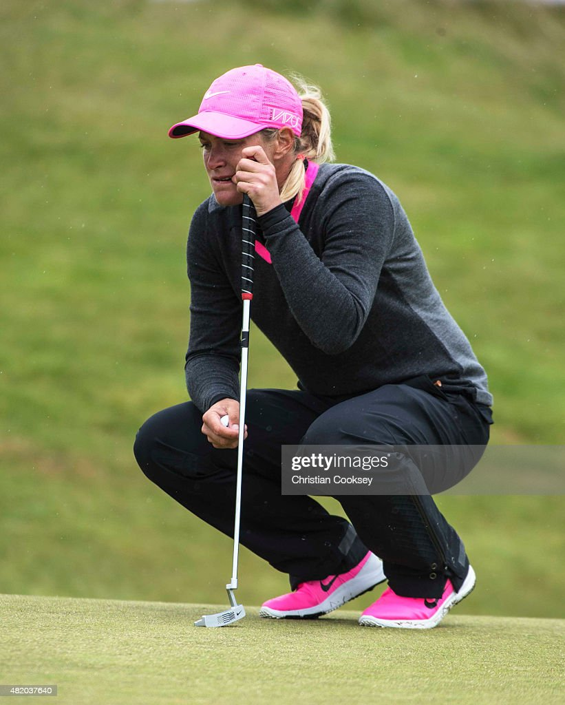 Suzann Pettersen of Norway in action during the final round of the Aberdeen Asset Management Scottish Ladies Open at Dundonald Links Golf Course on July 26, 2015 in Troon, Scotland.