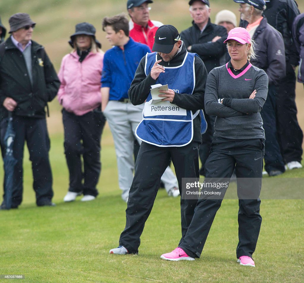 Suzann Pettersen of Norway looks on during the final round of the Aberdeen Asset Management Scottish Ladies Open at Dundonald Links Golf Course on July 26, 2015 in Troon, Scotland.