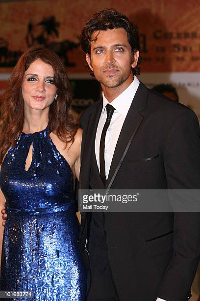 Suzanne and Hrithik Roshan at the IIFA awards in Colombo on June 5 2010