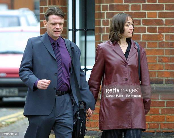 Suzanne Bunning and her partner Tom Fletcher arriving at the Employment Tribunal Elliot House Norwich where she is claiming that she suffered a...
