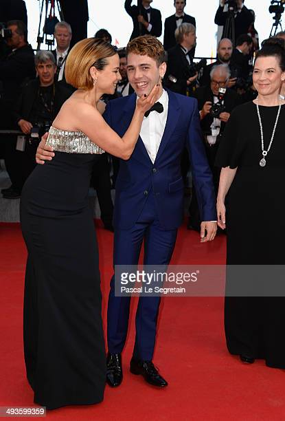 Suzanne Clement and Xavier Dolan attend the Closing Ceremony and Fistful of Dollars Screening during the 67th Annual Cannes Film Festival on May 24...