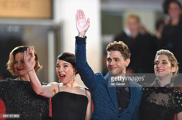 Suzanne Clement Anne Dorval director Xavier Dolan and Nancy Grant attend the 'Mommy' premiere during the 67th Annual Cannes Film Festival on May 22...