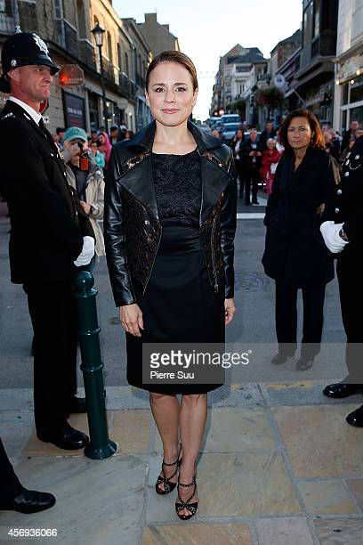 Suzanne Clement attends the opening cocktail party of the 25th Dinard film Festival on October 9 2014 in Dinard France