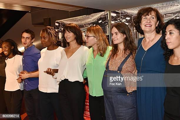 Suzanne Clement Marie Sohna Conde Audrey Estourgo Sophie Marceau Benjamin SiksouNaidra Ayadi attend 'La Taularde' Paris Premiere At UGC Cine Cite Les...