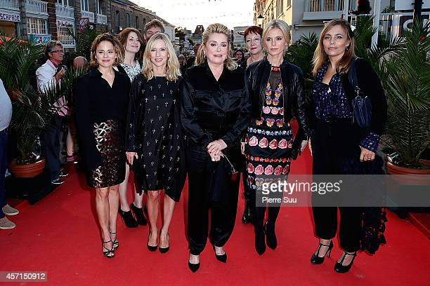 Suzanne ClementLea DruckerCatherine DeneuveEmilia Fox and Sophie Duez attend the Closing Ceremony of the 25th Dinard Film Festival on October 11 2014...