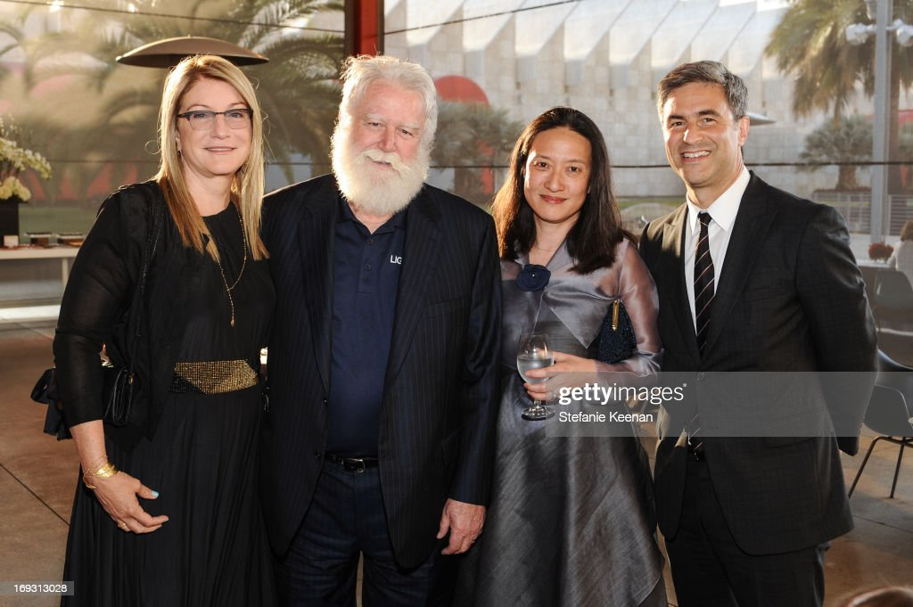 Suzanne Deal Booth James Turrell Kyung Turrell and Michael Govan attend LACMA Celebrates Opening Of James Turrell A Retrospective at LACMA on May 22...