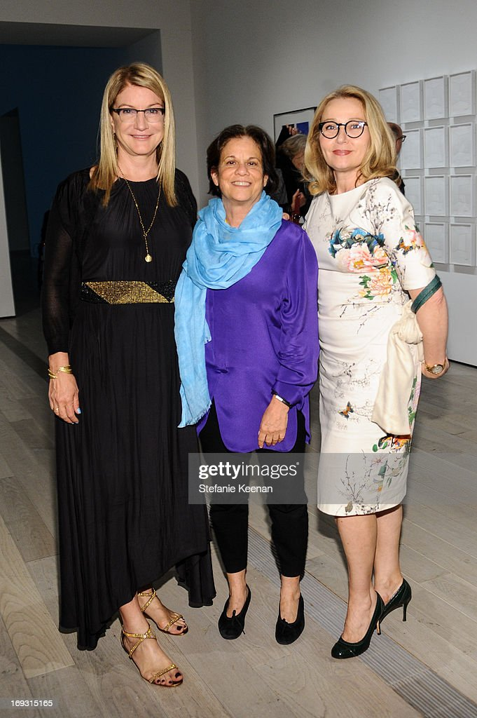 Suzanne Deal Booth, Stephanie Barron and Sofia Wolpert attend LACMA Celebrates Opening Of James Turrell: A Retrospective at LACMA on May 22, 2013 in Los Angeles, California.