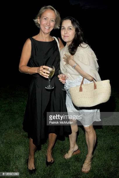Suzanne Donaldson and Susan White attend Dinner for 'The Recessionistas' by Alexandra Lebenthal Hosted by Claudia Lebenthal on August 21 2010 in...