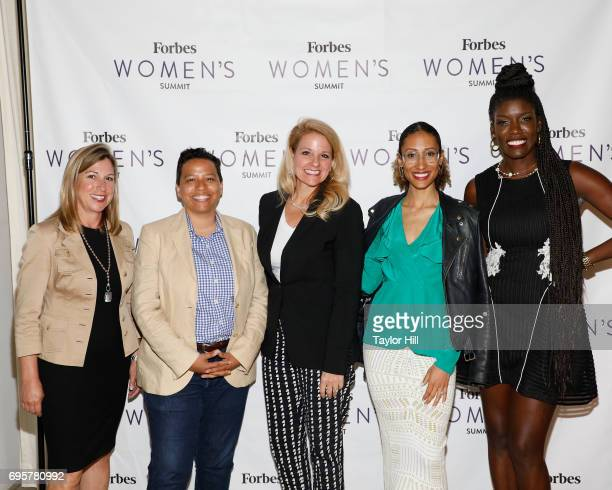 Suzanne Kounkel Lydia Polgreen Gwynne Shotwell Elaine Welteroth and Bozoma Saint John attend the 2017 Forbes Women's Summit at Spring Studios on June...