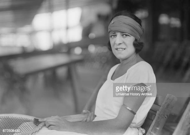 Suzanne Lenglen French Tennis Player Portrait Seated Bain News Service 1921