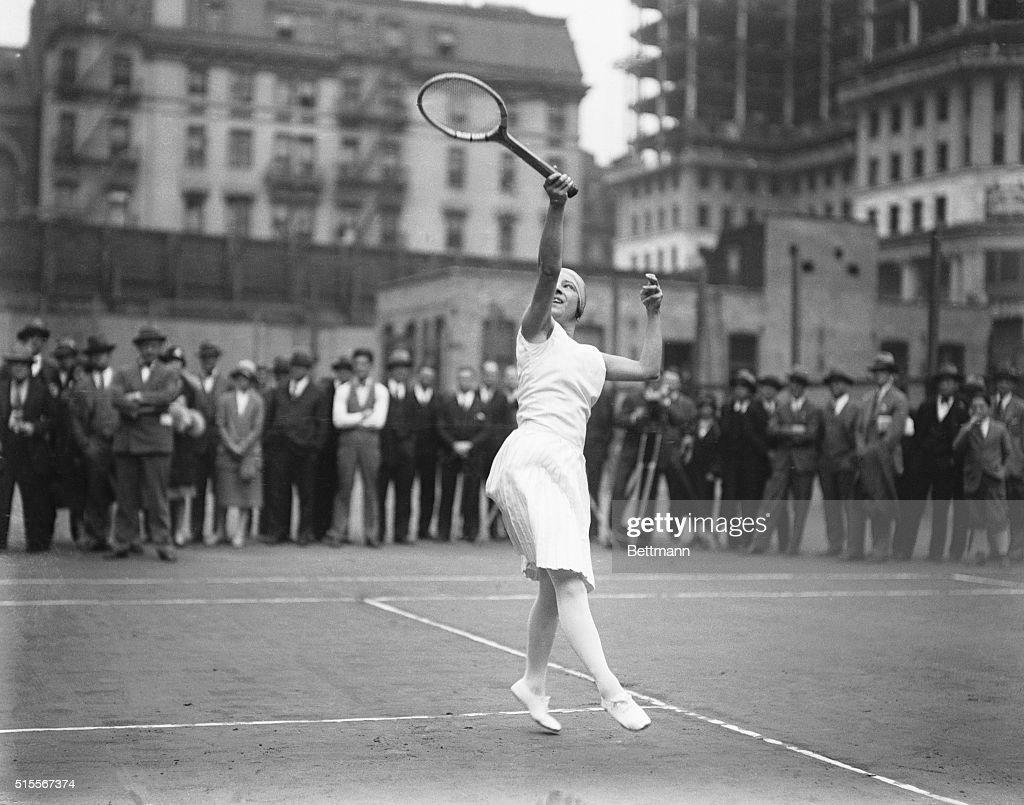 Suzanne Lenglen Playing Tennis