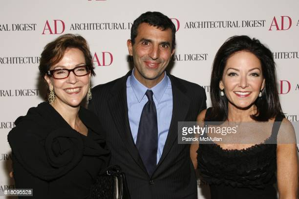 Suzanne Lovell Giulio Capua and Margaret Russell attend Conde Nast Welcomes Margaret Russell as Architectural Digest's EditorInChief at Riverpark on...