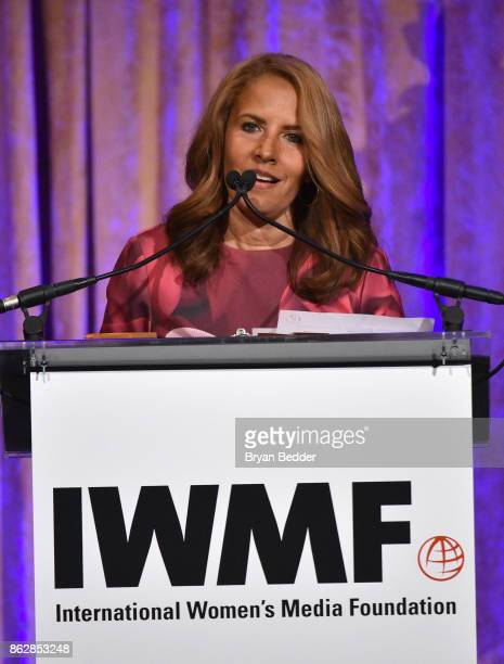 Suzanne Malveaux speaks onstage at The International Women's Media Foundation's 28th Annual Courage In Journalism Awards Ceremony Inside at Cipriani...