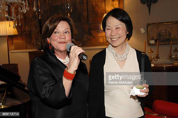 Suzanne Rheinstein and Dr Helena Chang attend Cocktails at Hollyhock Honoring Mish NY and the Breast Center at UCLA at West Hollywood on May 7 2007...