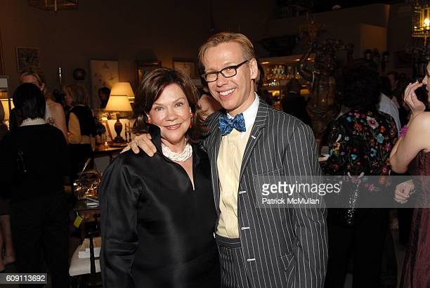 Suzanne Rheinstein and Mish Tworkowski attend Cocktails at Hollyhock Honoring Mish NY and the Breast Center at UCLA at West Hollywood on May 7 2007...