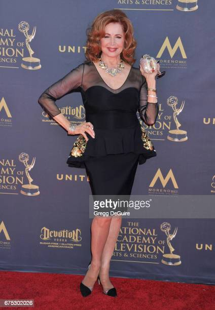 Suzanne Rogers arrives at the 44th Annual Daytime Emmy Awards at Pasadena Civic Auditorium on April 30 2017 in Pasadena California