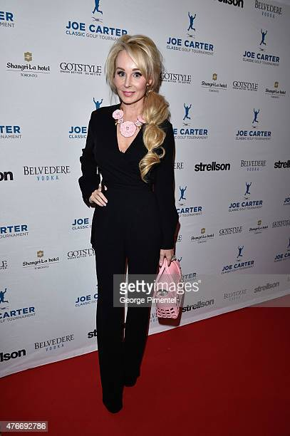 Suzanne Rogers attends Joe Carter Classic Celebrity Golf Tournament after party at ShangriLa Hotel on June 10 2015 in Toronto Canada