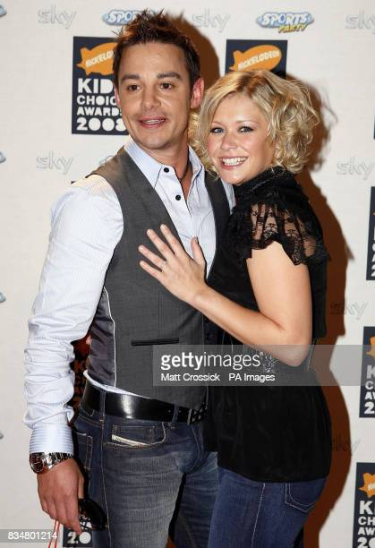 Suzanne Shaw and Jason King arrive at the Nickelodeon Kids' Choice Awards 2008 at the ExCel Centre East London