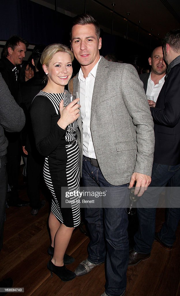 <a gi-track='captionPersonalityLinkClicked' href=/galleries/search?phrase=Suzanne+Shaw&family=editorial&specificpeople=213002 ng-click='$event.stopPropagation()'>Suzanne Shaw</a> (L) and Matt Evers attend an after party celebrating the press night performance of 'Burn The Floor' at the Trafalgar Hotel on March 11, 2013 in London, England.