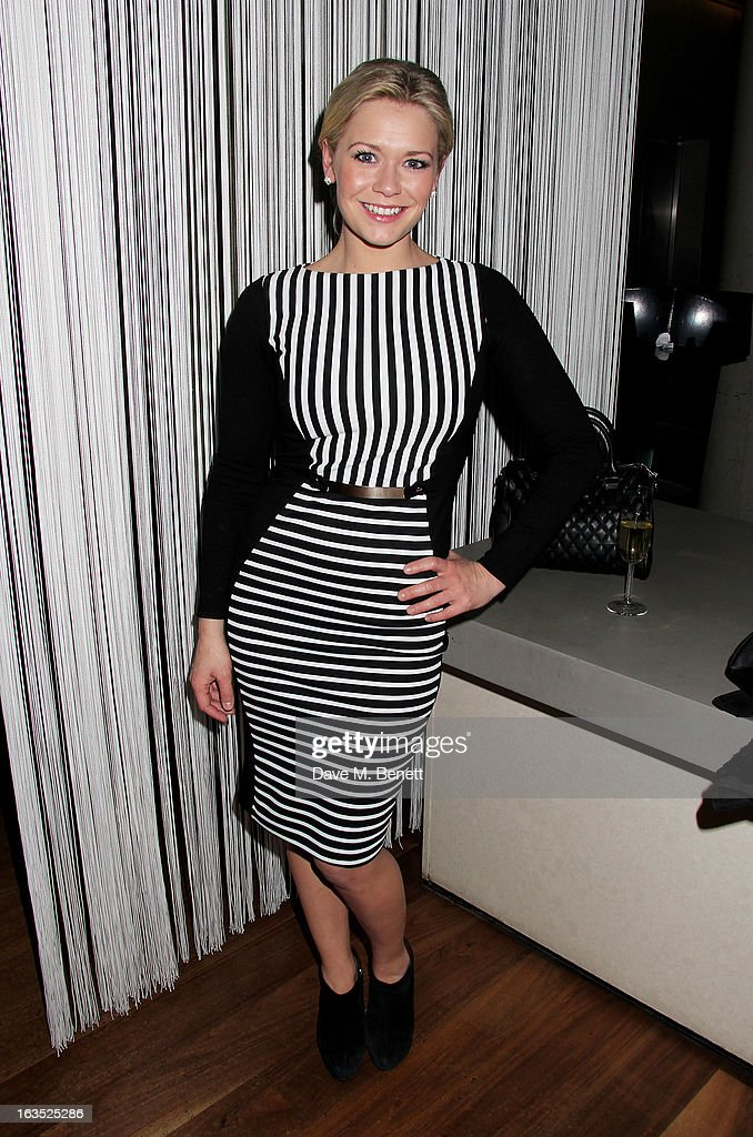 Suzanne Shaw attends an after party celebrating the press night performance of 'Burn The Floor' at the Trafalgar Hotel on March 11, 2013 in London, England.