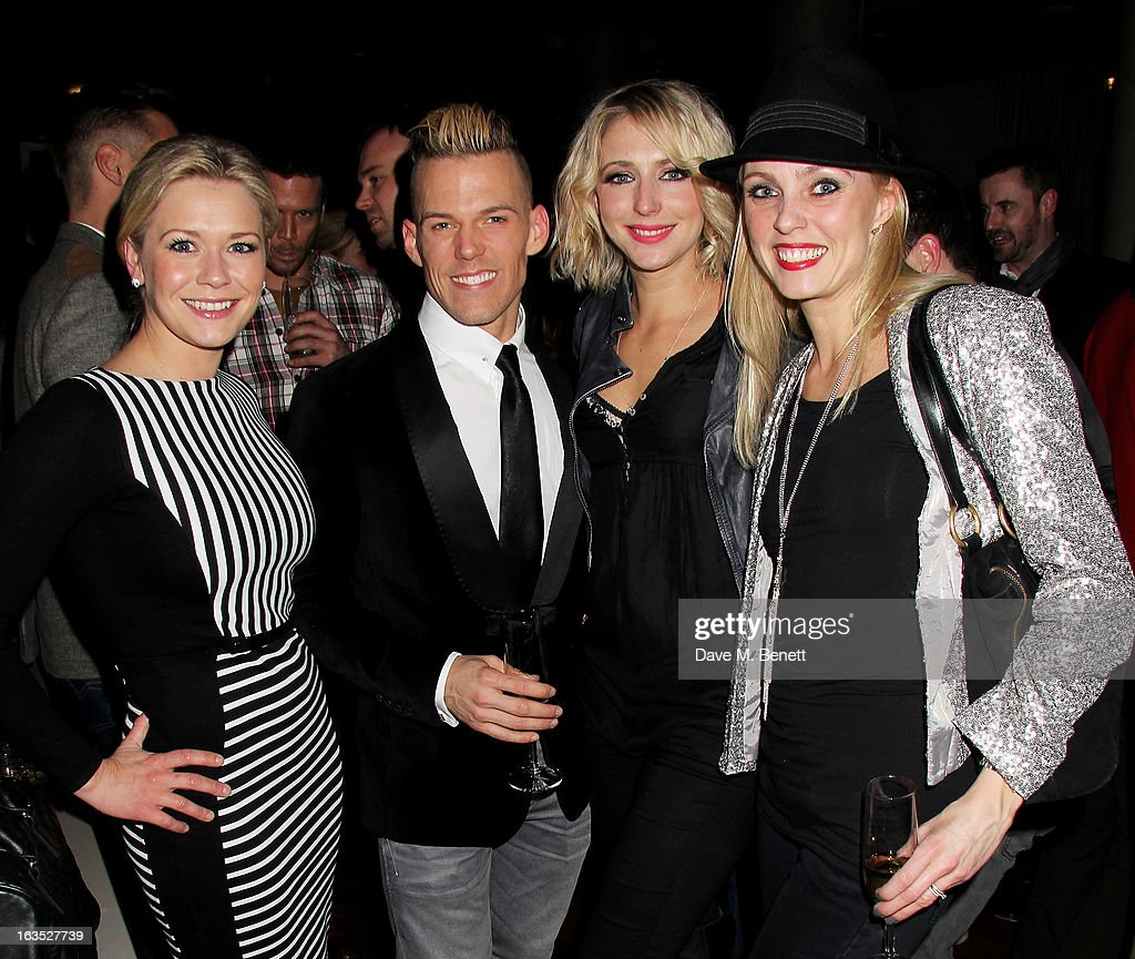 Suzanne Shaw, Patrick Helm, Ali Bastian and Camilla Dallerup attend an after party celebrating the press night performance of 'Burn The Floor' at the Trafalgar Hotel on March 11, 2013 in London, England.