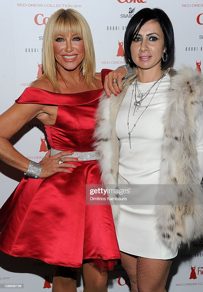 <a gi-track='captionPersonalityLinkClicked' href=/galleries/search?phrase=Suzanne+Somers&family=editorial&specificpeople=213968 ng-click='$event.stopPropagation()'>Suzanne Somers</a> and Ina Soltani attend the Heart Truth's Red Dress Collection 2011 during Mecerdes-Benz fashion week at The Theatre at Lincoln Center on February 9, 2011 in New York City.