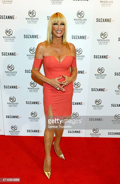 Suzanne Somers arrives at Suzanne Somers' residency show grand opening at Westgate Hotel and Casino on May 23 2015 in Las Vegas Nevada