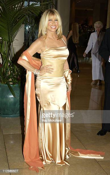 Suzanne Somers during 2003 Society of Singers ELLA Awards Arrivals at The Beverly Hilton in Beverly Hills California United States
