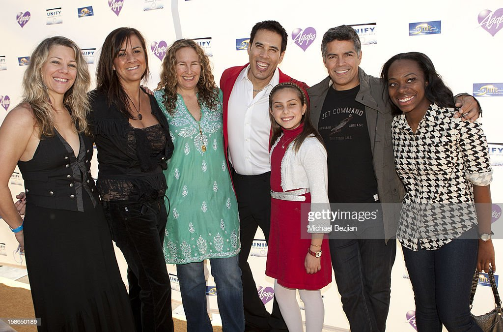 Suzanne Sterling, Dianna Cohen, Freddie Ravel, Jasmine Ravel, <a gi-track='captionPersonalityLinkClicked' href=/galleries/search?phrase=Esai+Morales&family=editorial&specificpeople=208672 ng-click='$event.stopPropagation()'>Esai Morales</a> and Jordan Howard attend Birth 2012 LA Gala at Agape International Spiritual Center on December 22, 2012 in Los Angeles, California.