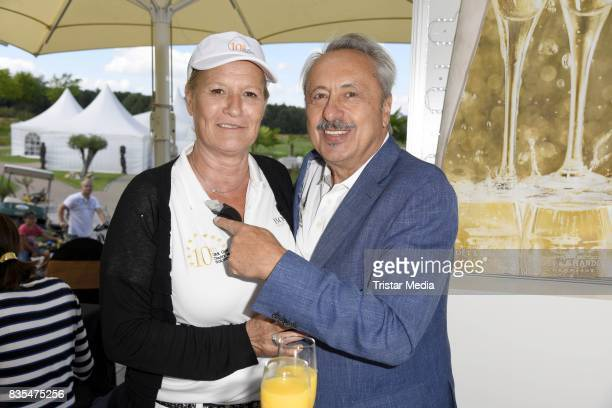 Suzanne von Borsody and Wolfgang Stumph during the 10th GRK Golf Charity Masters on August 19 2017 in Leipzig Germany