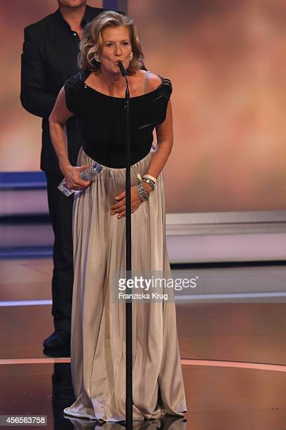 Suzanne von Borsody attends the Deutscher Fernsehpreis 2014 show on October 02 2014 in Cologne Germany
