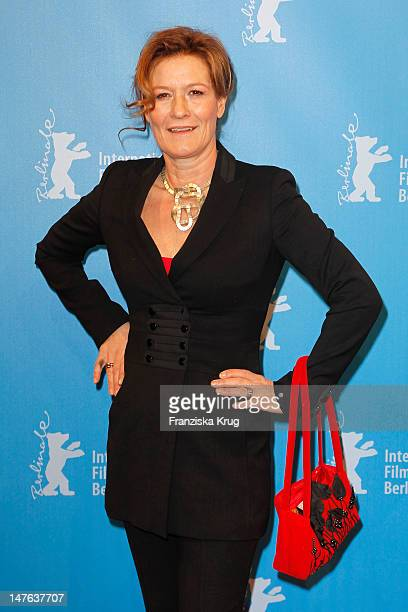 Suzanne von Borsody attends the 'In The Land Of Blood And Honey' Premiere during day three of the 62nd Berlin International Film Festival at the Haus...