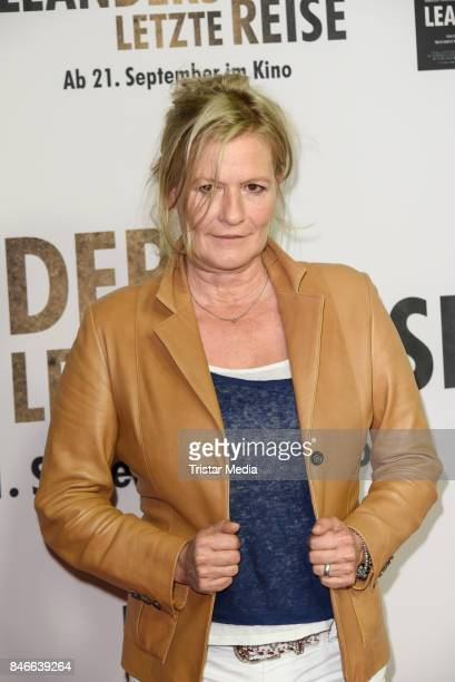 Suzanne von Borsody attends the 'Leanders Letzte Reise' Premiere at Kino in der Kulturbrauerei on September 13 2017 in Berlin Germany