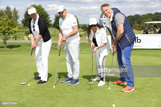 Suzanne von Borsody Wolfgang Stumph his wife Christine Stumph and Karsten Speck during the 10th GRK Golf Charity Masters on August 19 2017 in Leipzig...