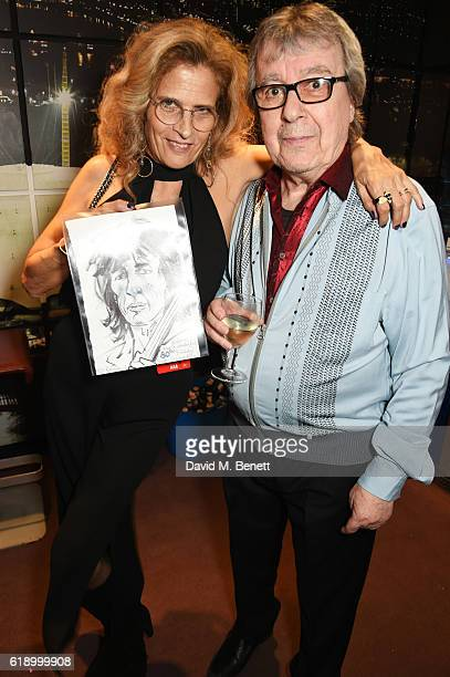 Suzanne Wyman and Bill Wyman pose backstage at Bill Wyman's 80th Birthday Gala as part of BluesFest London at Indigo at The O2 Arena on October 28...