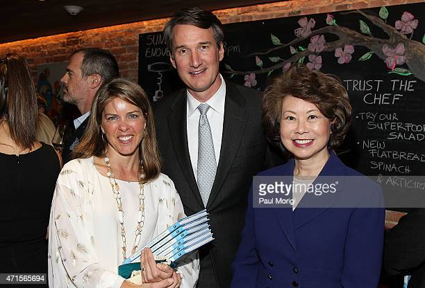 Suzanne Youngkin Glenn Youngkin and former US Secretary of Labor Elaine Chao attend Capitol File's book release party for Kelley Paul's 'True and...