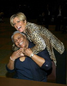 Suze Orman and Marva Allen Owner of HueMan Bookstore