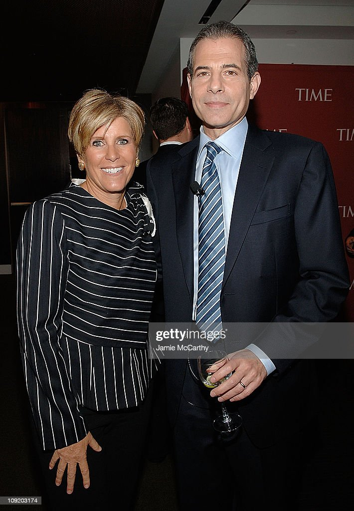 Suze Orman and Rick Stengel Editor of Time attend TIME's Person of the Year Luncheon at Time Life Building on November 13 2008 in New York City