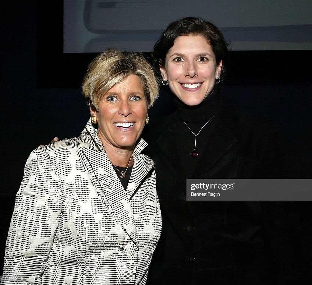 Suze Orman and Ruth Brenner President of the National Multiple Scierosis Society New York Chapter