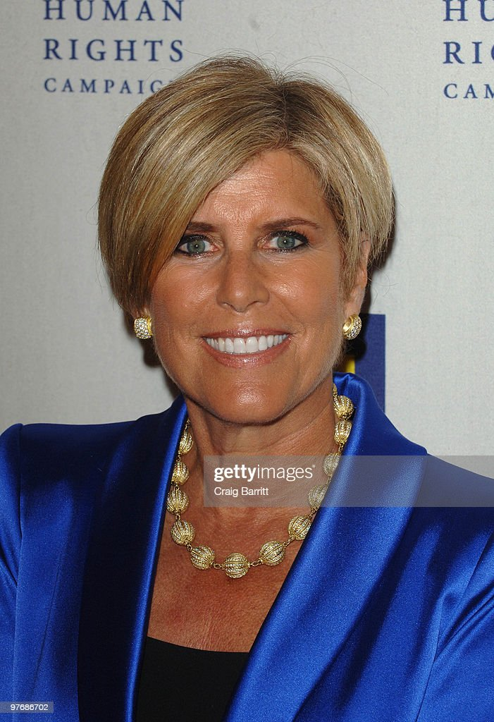 Suze Orman arrives at the HRC Los Angeles Dinner And Awards Gala at Hyatt Regency Century Plaza on March 13 2010 in Century City California