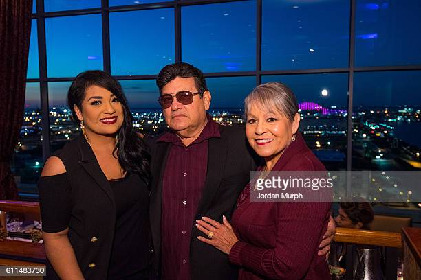 Suzette Quintanilla Marcela Quintanilla and Abraham Quintanilla Jr during the Media Welcome for the MAC Selena World Premier on September 29 2016 in...