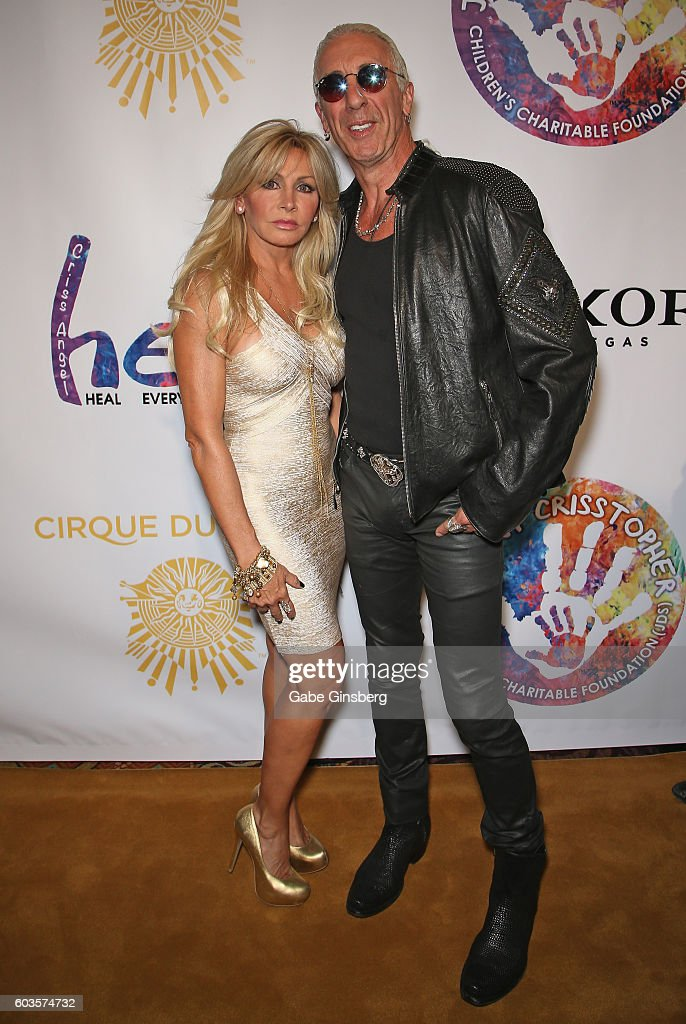 Suzette Snider (L) and her husband, singer Dee Snider of Twisted Sister, attend Criss Angel's HELP (Heal Every Life Possible) charity event at the Luxor Hotel and Casino benefiting pediatric cancer research and treatment on September 12, 2016 in Las Vegas, Nevada.