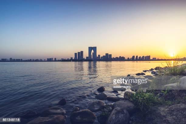 suzhou financial district and jinji lake