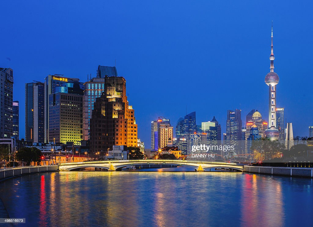 Suzhou river at blue time