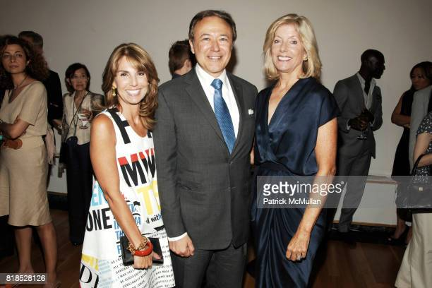 Suzi Cordish Valentin Hernandez and Liz Peek attend The Couture Council Summer Party at The French Embassy on August 17 2010 in New York City